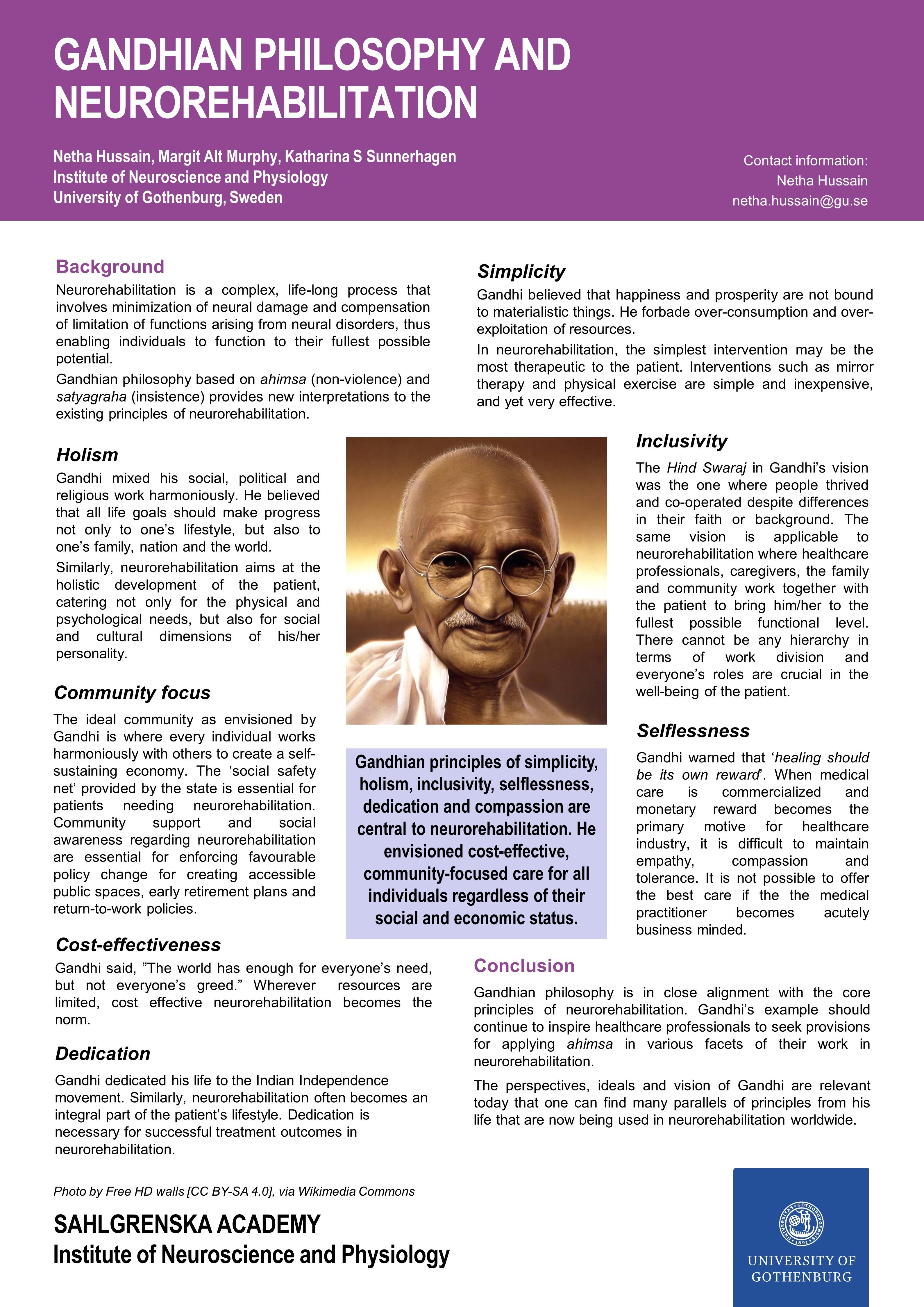 Gandhian Philosophy and Neurorehabilitation_Sahlgrenska